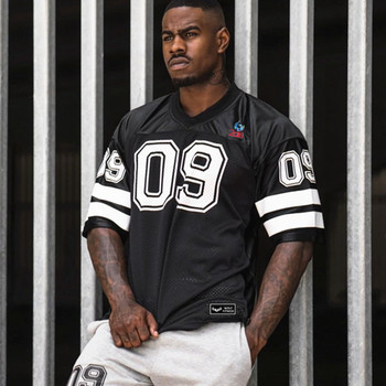 New Clothing Fashion Bodybuilding tShirt Men Breathable Short Sleeve Fitness shirt Gyms Loose Tees Casual Summer Tops sweatshirt