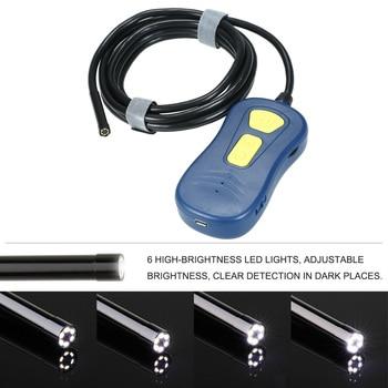 Universal Wireless Endoscope WiFi Borescope Snake Camera IP67 Waterproof HD Inspection Camera with 6 LED Lights Car Repair Tool