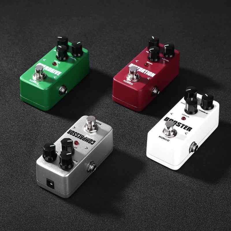 KOKKO gitar pedalı etkisi kompresörü güçlendirici bozulma Overdrive elektrik bas gitar efektleri gerçek Bypass müzik aletleri