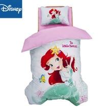 цена на Disney cartoon Little Mermaid Princess Alic 3Pcs Baby Bedding Set For Boy Girl Cotton Kids Bed Cot Kit Crib Bedding For Newborns