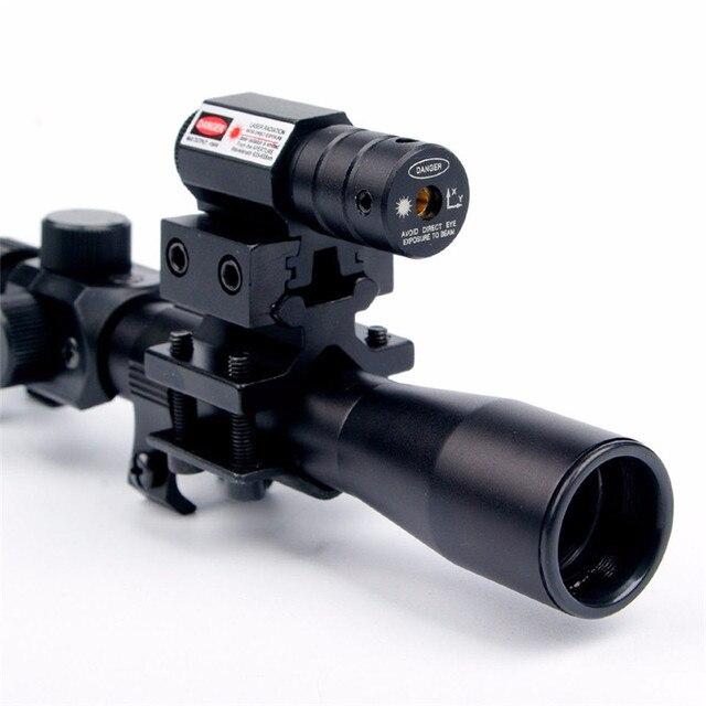 Rail Riflescope Optics Holographic Tactical Red Dot Laser Sight Reflex 4x20 Optics Scope Tactical Riflescope Red Dot Laser Sight 2