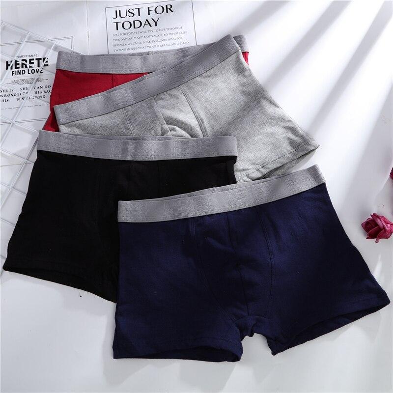 4 pezzi mutandine maschili cotone intimo uomo Boxer traspirante uomo Boxer mutande solide comodi pantaloncini di marca intimo uomo 365 2