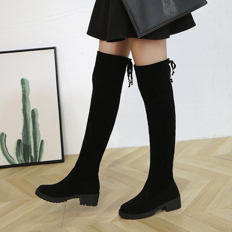 Inverno botas femininas moda sobre o joelho