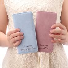 Женская сумка, Матовый кожаный кошелек и кошельки для карт, клатч, женские сумки, тонкий кошелек, портмоне для женщин, милые женские кошельки для телефона