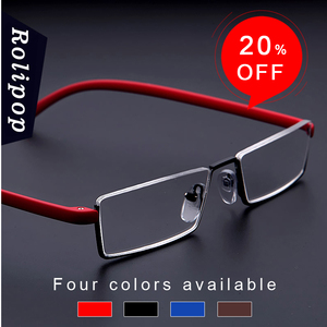 Image 5 - TR90 Womens Half Frame Reading Glasses for Men Readers Glasses Metal Vision Magnifying Glasses Soft and Comfortable To Wear Male