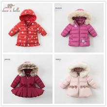 dave bella winter baby down jacket children 90% white duck down padded coat kids hooded outerwear