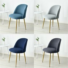 2021 Short Back Round Bottom Seat Covers Wing Back King Curved Dining Chair Covers For kitchen Hotel Home Party Banquet