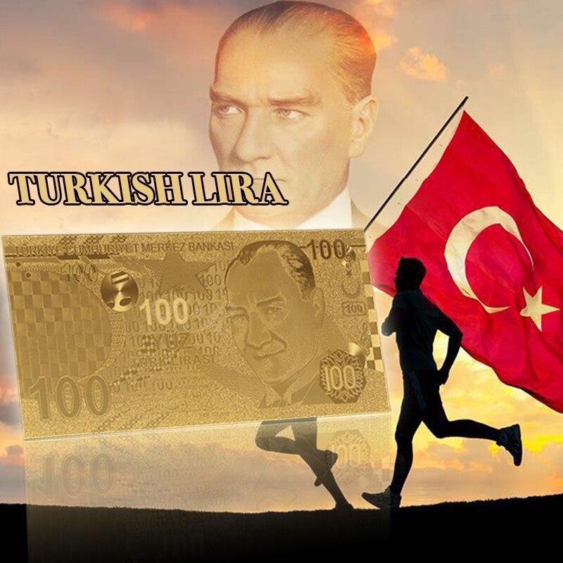 WR 999 oro Turquía 100 Lira dinero oro billete turco lira nueva colección regalos