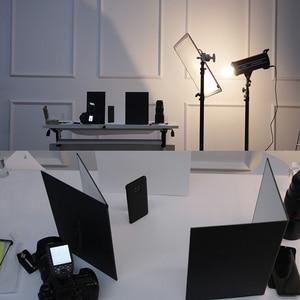 Image 2 - Fotografie Reflektor Faltbare Karton Weiß Schwarz Silber Reflektierende Papier Weichen Bord Fotografie Requisiten Für Foto Schießen
