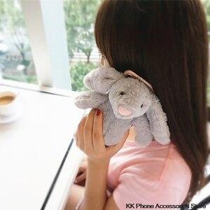 Image 5 - 3D Bunny Doll Case dla iPhone 11 Pro Max 6 6s 7 8 Plus X XR XS królik włosów Furry pokrywa dla Samsung S20 uwaga 10 + S10 S8 S9 S7 S6