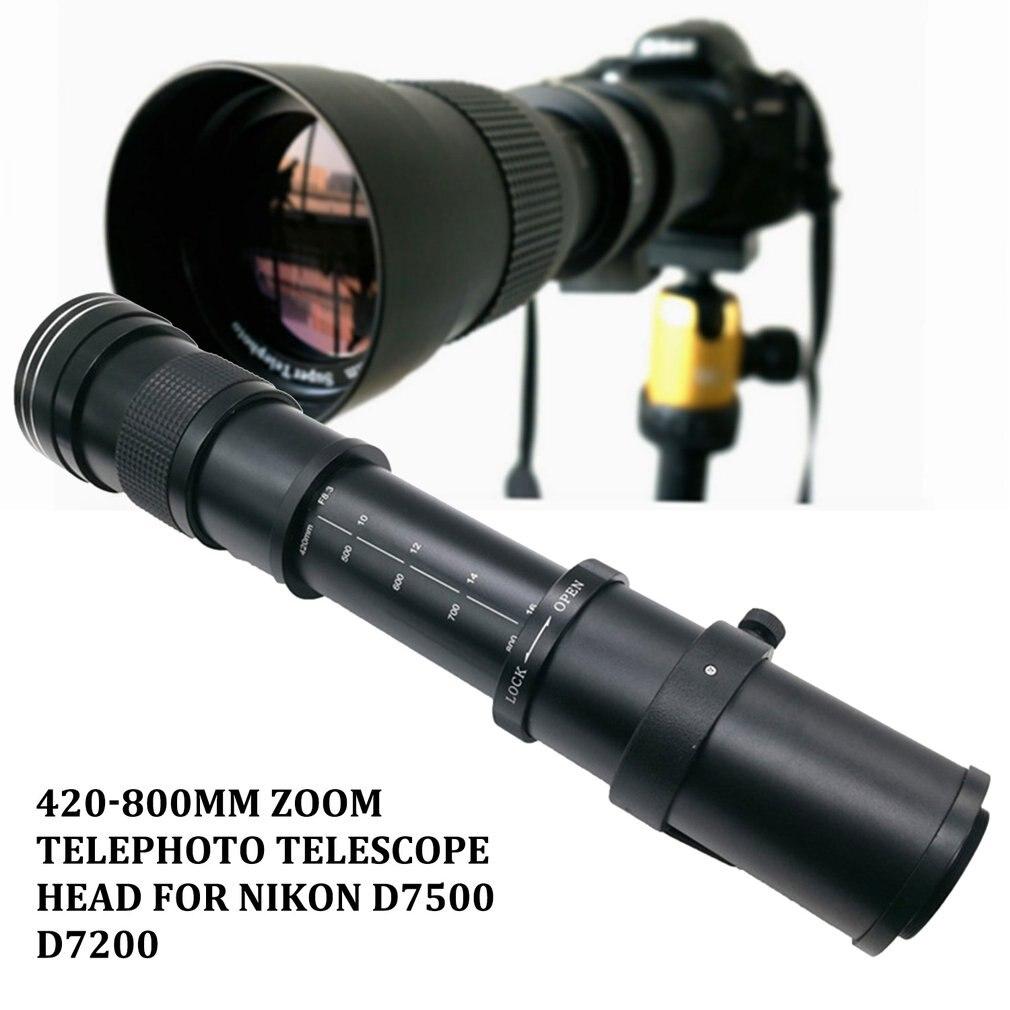 JINTU 420-800mm Téléobjectif pour Nikon D7500 D7200 D5600 D5500 D3400 D5 D810