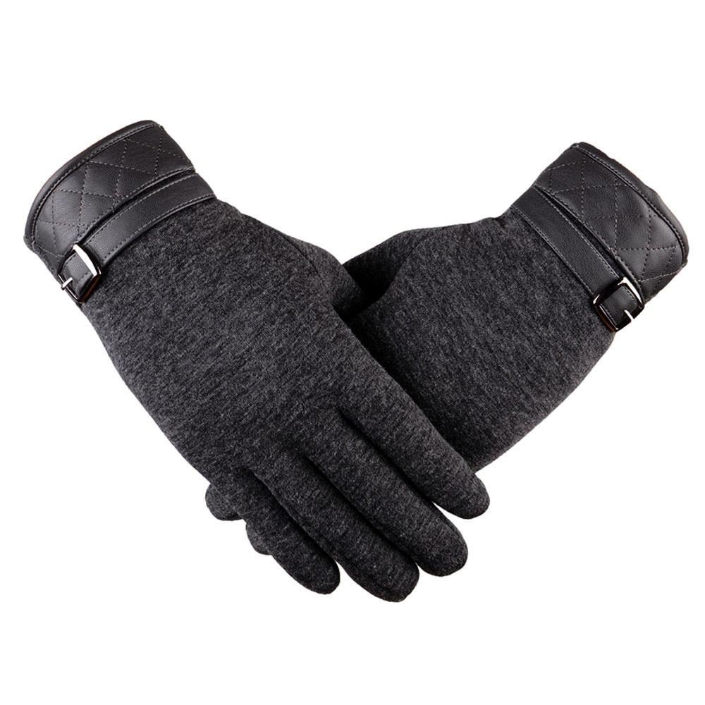 Mens Winter Thermal Gloves Unisex Vintage Black Driving Twist Gloves Wool Women Winter Keep Warm Hand Gloves Gifts Mittens