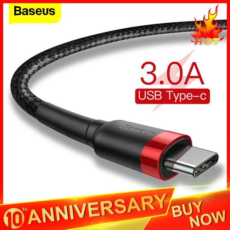 Baseus USB Type C Cable For Samsung S20+ S10 Quick Charge 3.0 Cable USB C Fast Charging For Huawei P30 Xiaomi USB C Charger Wire|Mobile Phone Cables| |  - AliExpress