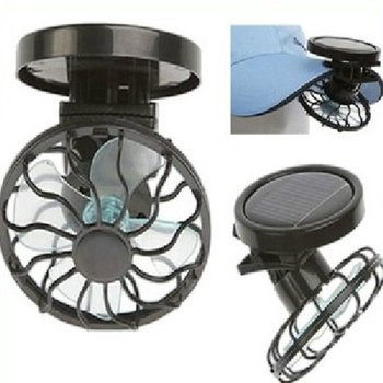 Portable Car Clip On Solar Cell Fan Cooling Sun Power Energy Panel Cooling Summer Cooler Car Fan Air Cooling Fan image