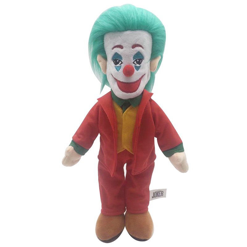 1pcs 38cm Movie Joker Plush Toy Doll Cute Joker Plush Stuffed Toys Doll Gifts For Christmas Children Kids