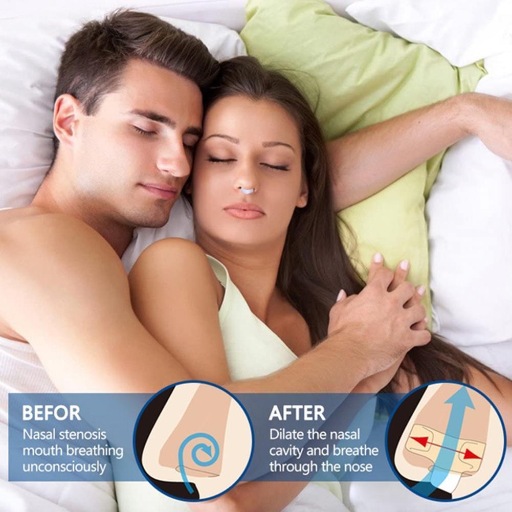 Nariz purificador congestão nasal respirador mini dispositivo de ressonar anti-ronco para ferramenta nariz elástico evitar clipe anti-ronco s m9w5