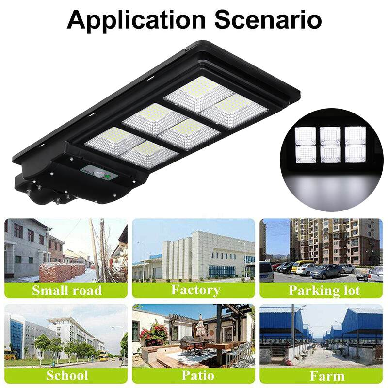 300W 600W 900W IP65 LED Solar Street Light Radar Motion Wall Lamp no/ with Remote Control for Villas Garden Yard and Pathway 2