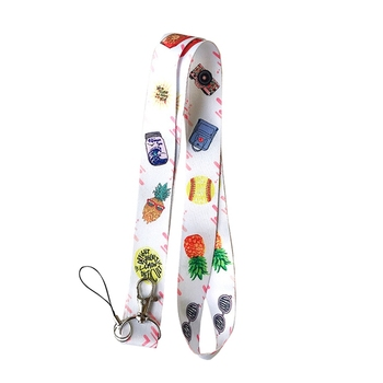 Simple Small Fresh Fruit Neck Strap Lanyards For Keys ID Card Gym Mobile Phone Straps USB Badge Holder DIY Hang Rope Lanyard dmlsky kiki s delivery service lanyard keychain anime lanyards for keys badge id mobile phone rope neck straps gifts m3865