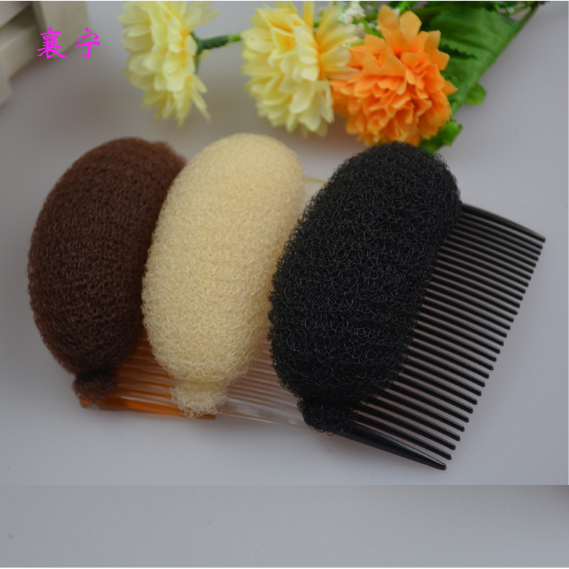 Women Hair Styling Clip Pro Hair Puff Paste Heightening Hairstyle Device Bun Maker 23 Teeth Hair Comb Sponge Hair Make Pad Tools