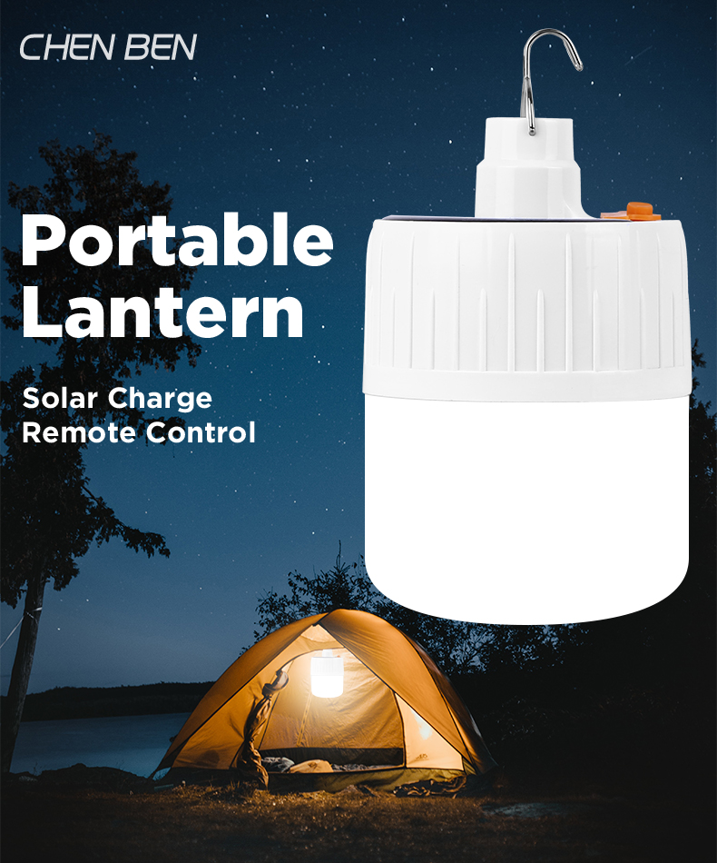 Portable USB Rechargeable Tent Camping Lamp Remote Lantern Control Hanging Light