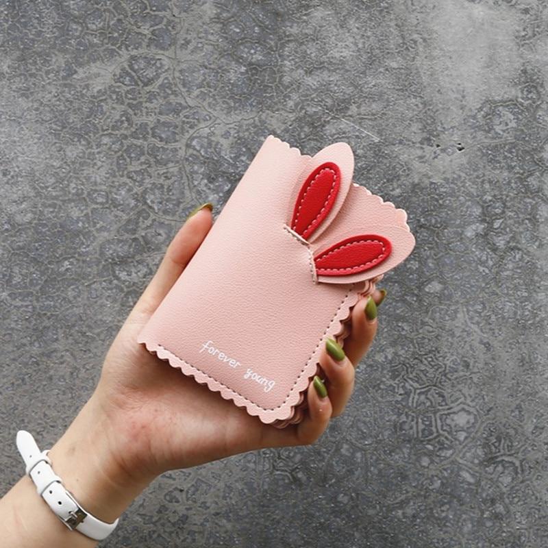 Kawaii Female Wallets Lovely Rabbit Card Holder Cute Small Wallet Women's Short Design Purse Girls Wallet Cash Holder Wholesale
