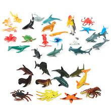 36 sztuk podwodny świat życie morskie Model zwierzęta zabawki plastikowe morskie figurki do zabawy zabawki edukacyjne imitacja zwierzęcia zabawkowy Model tanie tanio FGHGF Z tworzywa sztucznego Animals Toys 3 lat Poznawcze pływające zabawki Kąpieli Unisex Wieloryb