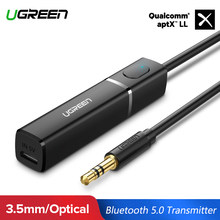 Ugreen Bluetooth 5,0 transmisor aptX le Digital Toslink adaptador óptico 3,5mm estéreo de Audio del transmisor de TV auriculares PC PS4