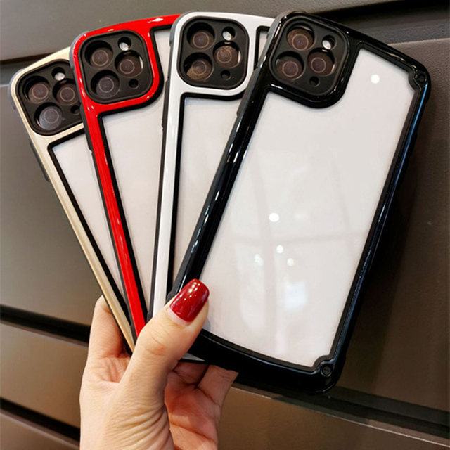 Luxury Transparent Phone Case For Apple iPhone 11 12 Pro Max mini SE 2020 X XR XS Max 7 8 Plus Camera Candy Color Cover Case 4