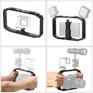 Image 4 - BGNing DSLR Video Rig Cage Handheld Smartphone Vlog Stabilizer Camera Cage for Gopro 8 7 6 for XiaoYI EKEN Sport Camera