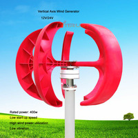 Wind Turbines Generator 5 Blades Motor Kit Vertical Axis Wind Generator for Home Boat Streetlight 12V 24v Rated 400w 600w