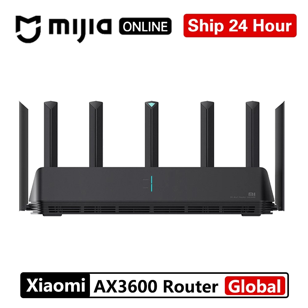 Xiaomi AX3600 AIoT маршрутизатор Wifi 6 5G WPA3 Wifi6 600Mb двухдиапазонный 2976Mbs гигабитный скорость Qualcomm A53 внешний усилитель сигнала модем