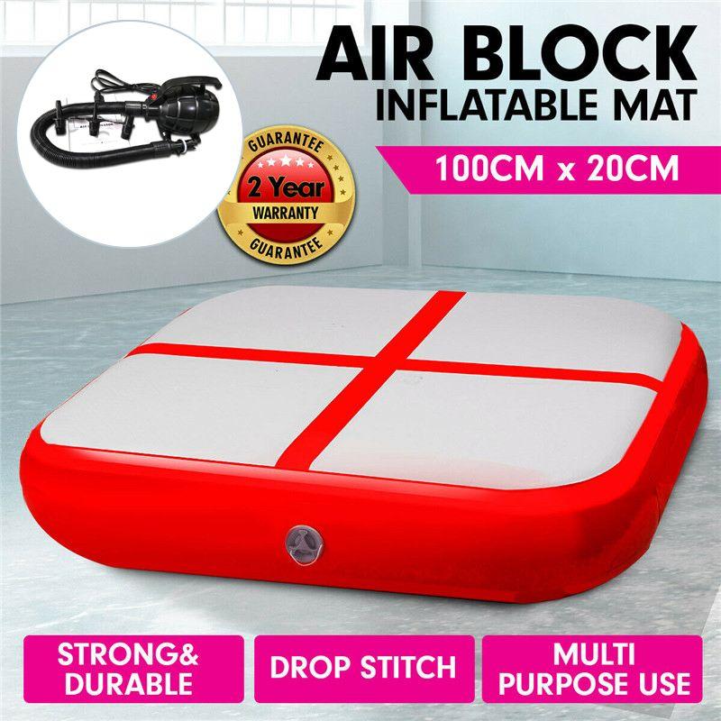 100X100X20cm nouvelle piste gonflable piste Air piste bloc exercice Gym assistance pour l'entraînement de gymnastique Tumbling tapis rond