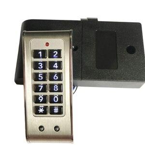 Image 4 - ホームドア抗盗難キーパッドパスワードキャビネットロック引き出し安全デジタル電気保護オフィスワードローブステンレス鋼