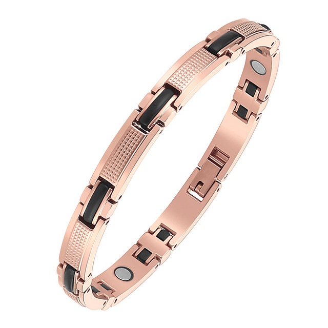 Oktrendy Couple Magnetic Stainless Steel Bracelet With Hook Buckle Clasp Therapy Bangles Women Health Care Jewelry Bracelets