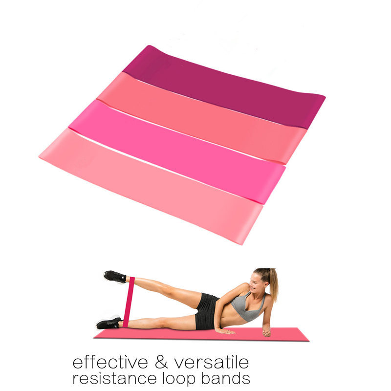 4 Colors Yoga Resistance Rubber Bands Indoor Outdoor Fitness Equipment Pilates Sport Training Workout Elastic Bands 0.5mm-1.1mm
