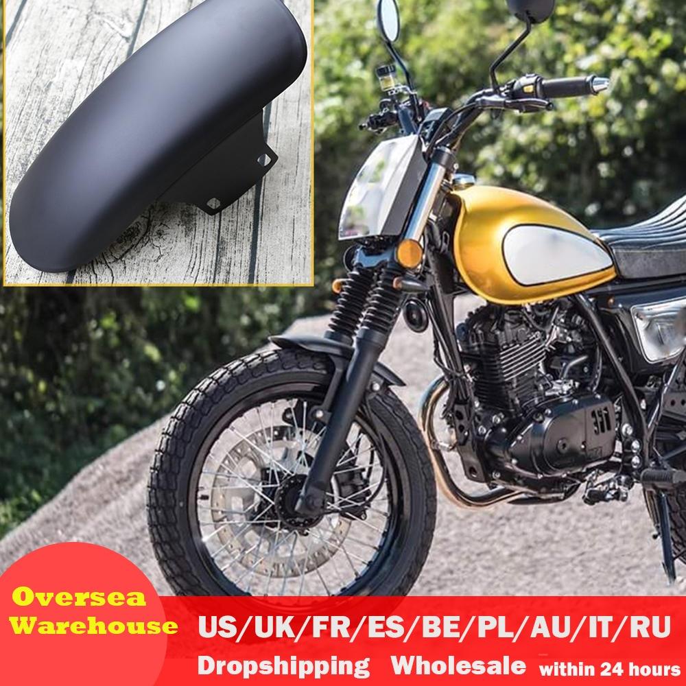 Evrensel motosiklet Retro çamurluk Ultra kısa ön çamurluk çamurluk Racer tekerlek sıçrama Shield Guard GN125 MASH125 title=
