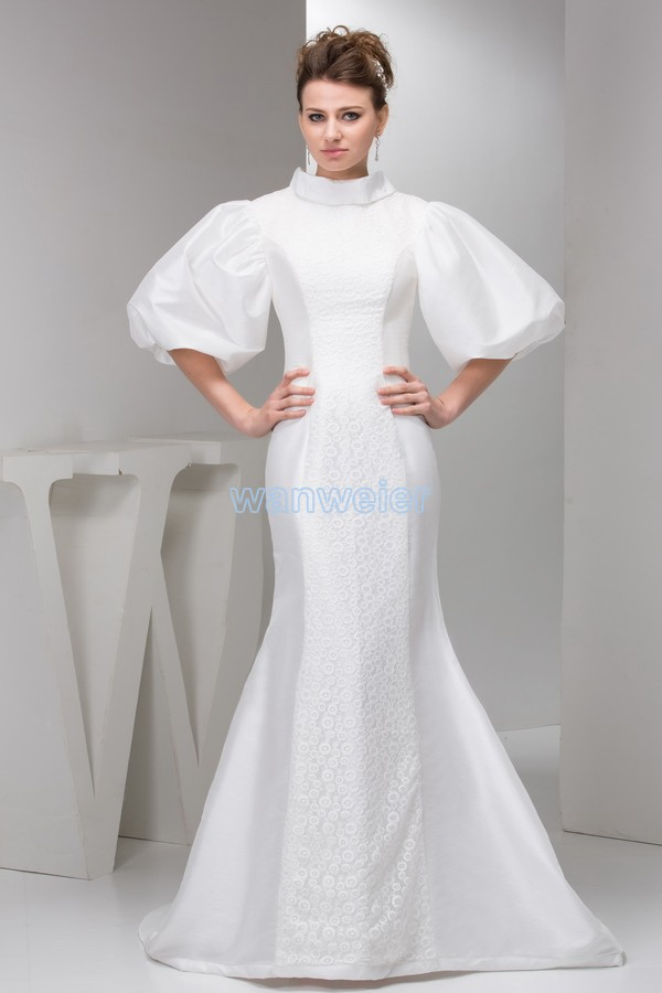 Free Shipping 2020 Plus Size Floor Length Small Train Formal Long Sleeve White Long Mermaid Mother Of The Bride Dress Jacket