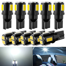 10X T10 W5W LED Bulb 194 168 Car Clearance Light White For SEAT Leon 1 2 3 MK3 FR Cordoba Ibiza Arosa Alhambra Altea Exeo Toledo