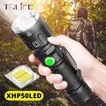 Самый мощный XHP50 светодиодный фонарик 5 режимов освещения масштабируемый фонарик использование 18650 или 26650 батарея для наружных приключений...