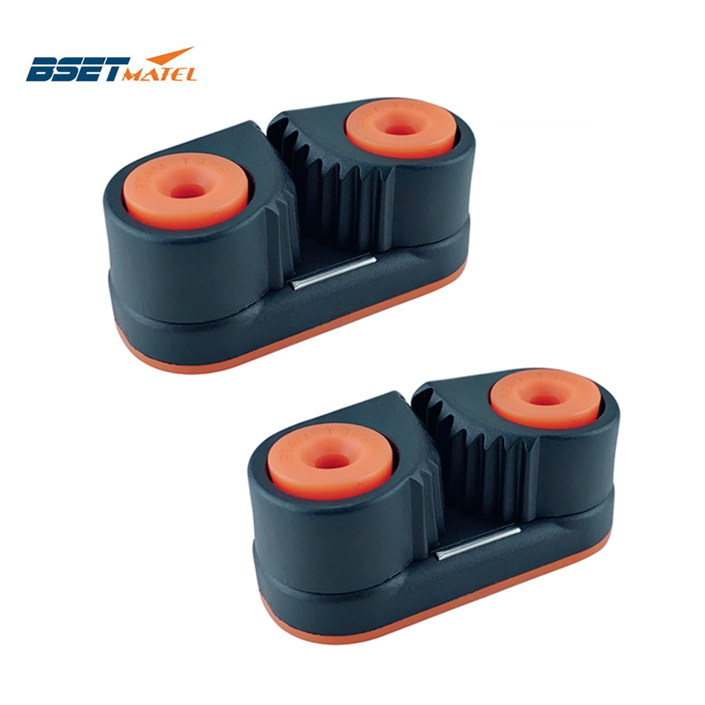 N// A Composite 2 Row Matic Ball Bearing Cam Cleat Marine Boat Fast Entry Rope Cam Cleat Wire Fairlead Sailing Sailboat Equipment