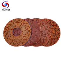 RIJILEI 4PCS Super 6inch Diamond polishing pads Wet Copper bond pad for granite marble concrete floor Grinding Disc