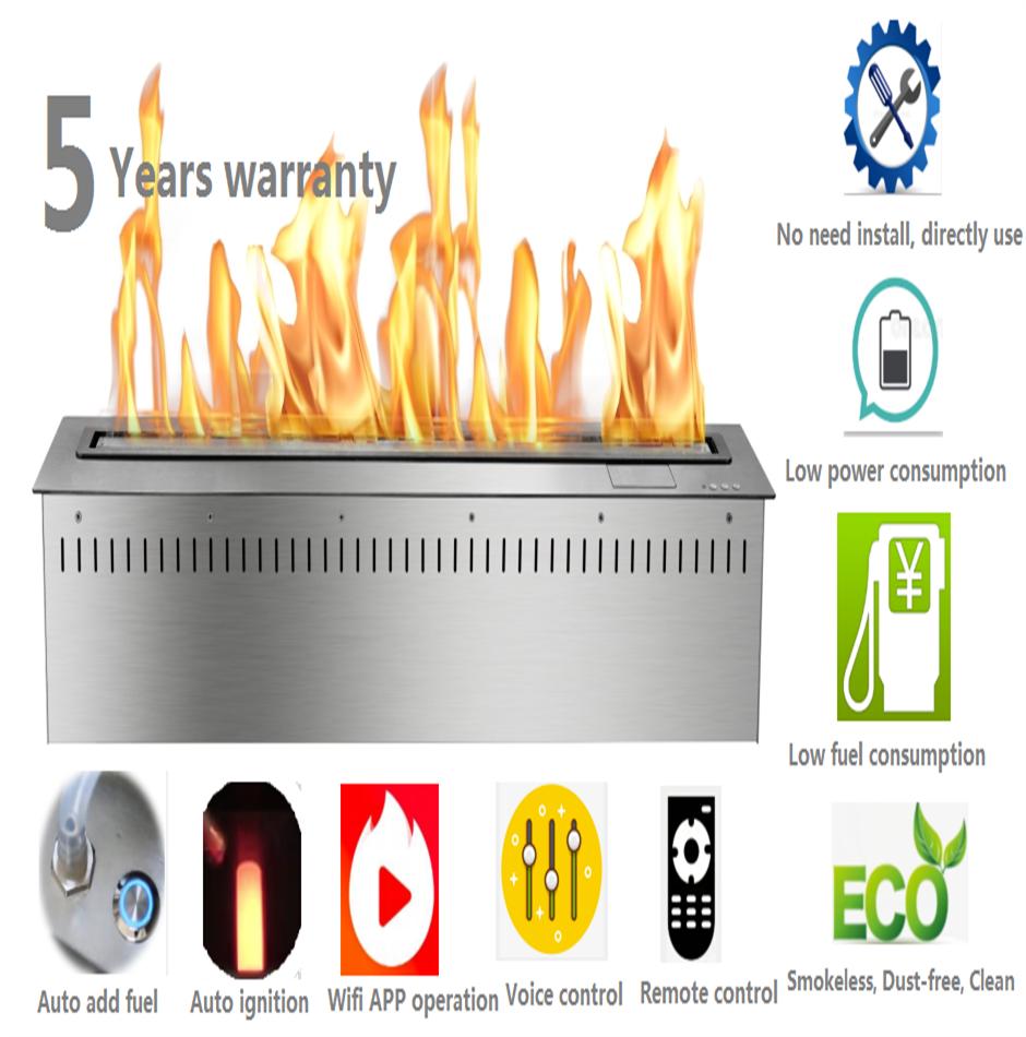 72 Inch Intelligent Smart Home Decor Electric Bruleur Ethanol Interieur