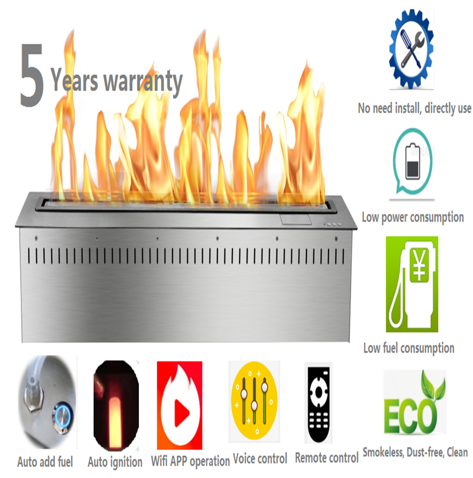 72 Inch Intelligent Smart Home Decor Electric Chimeneas De Bioetanol Decorativas