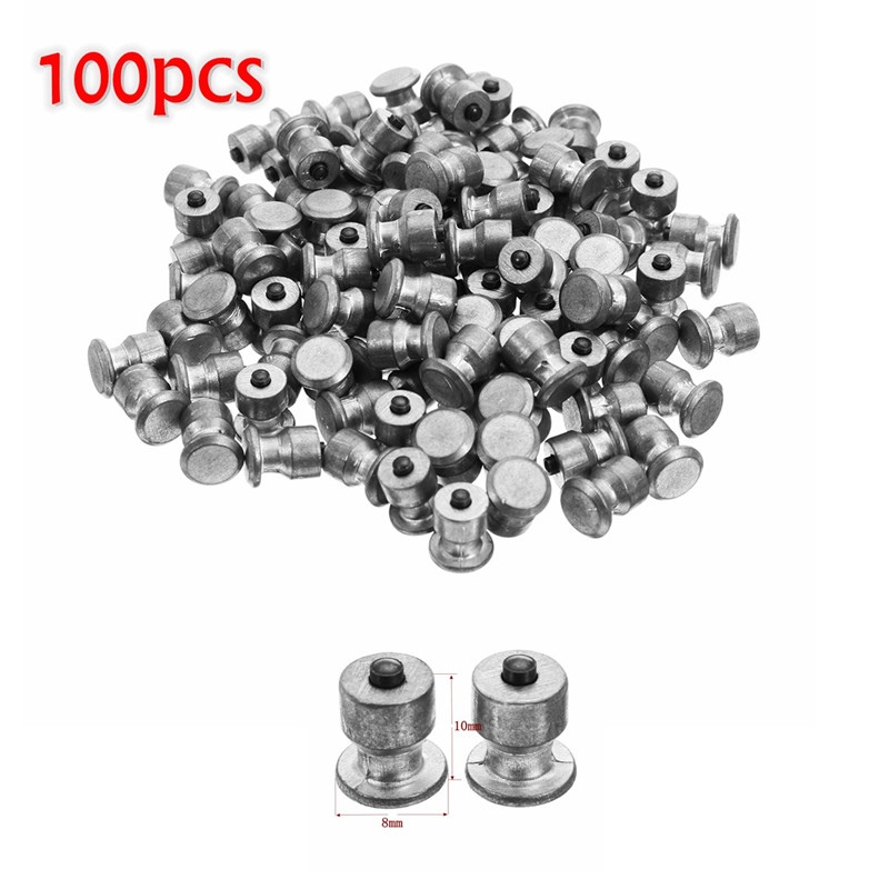 100pcs Winter Wheel Lugs Car Tires Studs Screw Snow Spikes Wheel Tyre Snow Chains Studs For Shoes ATV Car Motorcycle Tire 8x10mm