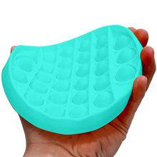 Rápido! Portátil push bubble fidget sensorial brinquedo autismo necessidades especiais alívio do estresse lavável ornamento escritório flexibilidade compacto