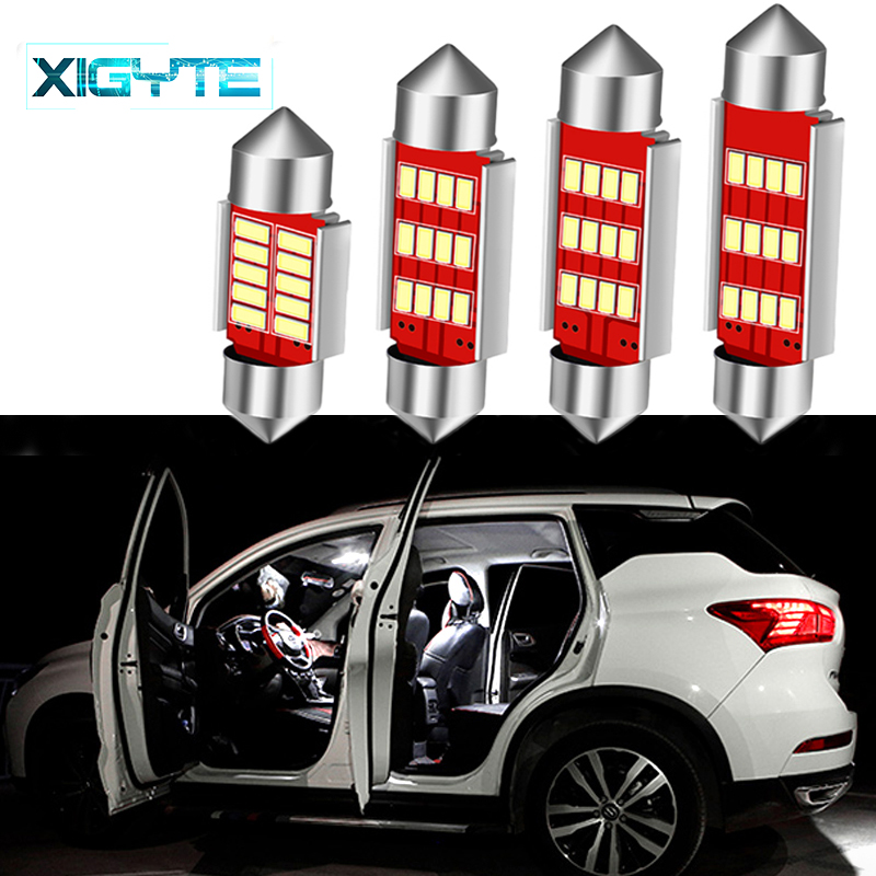 Car Styling 31/36/39/41mm C5W C10W CANBUS Error Free Auto Festoon SMD 4014 LED Car Interior Dome Lamp Reading Bulb White Light