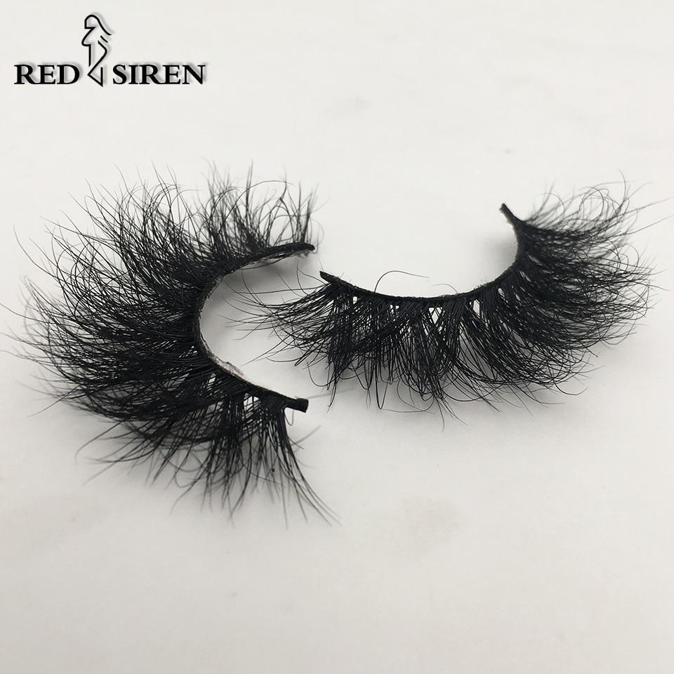 RED SIREN Fluffy Eyelashes 10mm-18mm 3d Mink Eyelashes Handmade Soft Volume Natural Lashes Maquillaje Lash Vendors False Lashes