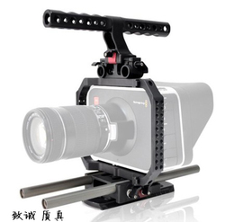 ECO BMCC Protection Cage Rig with Top Handle 15mm Rod Blackmagic Camera Rig