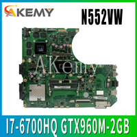 N552VW Laptop motherboard for ASUS VivoBook Pro N552VW N552VX N552V original mainboard HM170 I7 6700HQ GTX960M 2GB