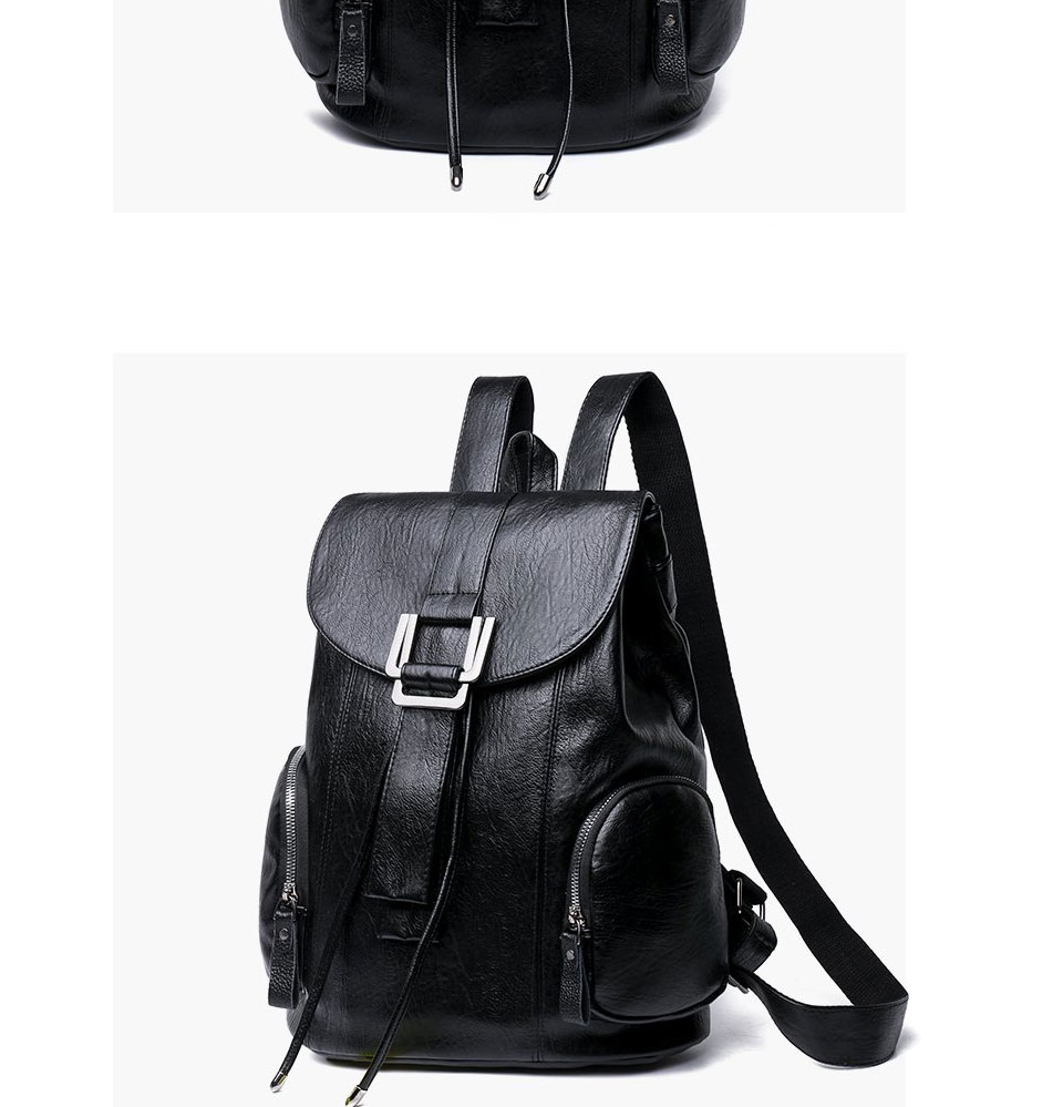 ACELURE Solid Color Women's Bags High Capacity PU Leather Backpacks Classic Black Waterproof Travel Multi-function School Bags